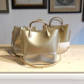 KARTELL BORSA SHOPPER FINITURA ORO GRACE K