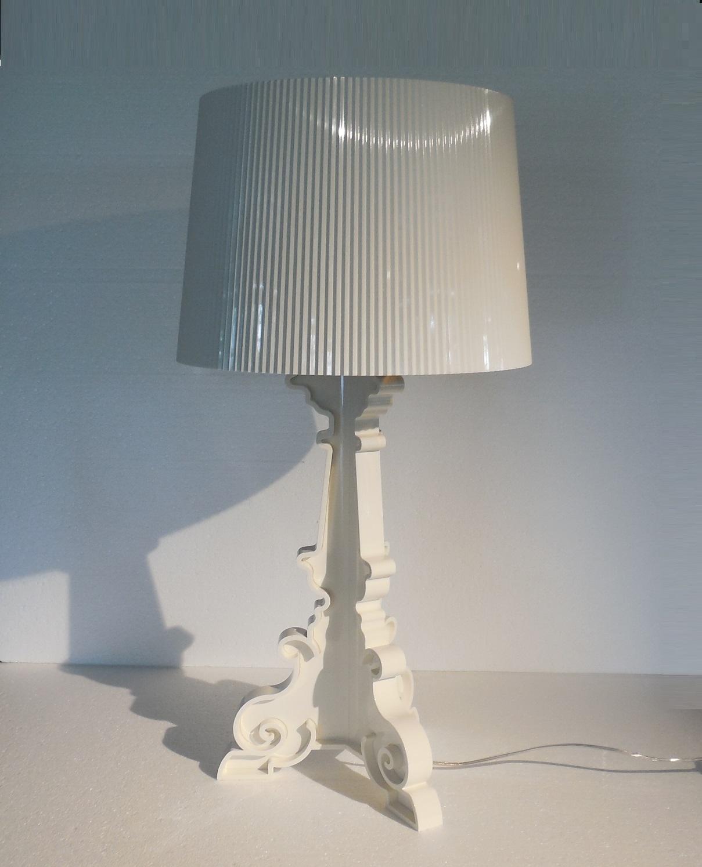 KARTELL LAMPADE DA TAVOLO BOURGIE VERSIONE BIANCO ORO ...